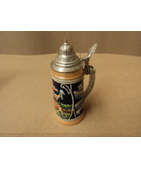 Lerchen Beer Stein 9in H x 4in Diameter Multi-Color Germany Ceramic - $62.61