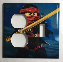 Ninjago Ninja Kai Light Switch Power Outlet wall Cover Plate Home decor image 4