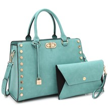 MMK collection Women Fashion Pad-lock Satchel handbags with wallet(2553)... - $49.99