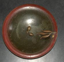 Israel Vintage Bronze Bowl Tray Olive Ascalon Rabban 1950's Signed Pal Bell