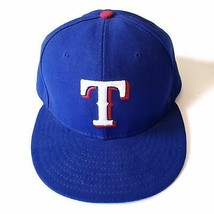 Texas Rangers New Era MLB 59Fifty Fitted Hat Size 7 3/8 Official On Field Cap - £22.48 GBP