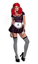 Rockin' Ragdolly Raggedy Ann Punk Adult Halloween Costume Women's Size Medium - $43.83