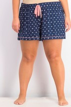 Charter Club Women's Printed Knit Pajama Shorts, Seagull, Size:XXL - $17.81