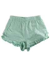 First Impressions Baby Girls Solid Ruffle-Waist Aqua Ice Shorts, 12 Months - $6.00