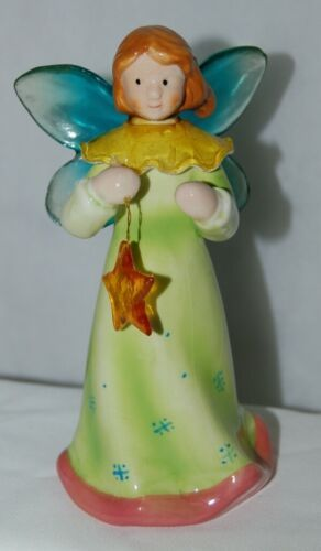 Dicksons Christmas Angel Green Dress Holding Star 6 Inches
