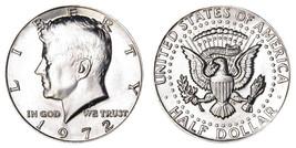 1972  BU Kennedy Half Dollar Very Nice Luster CP2408 - $4.75