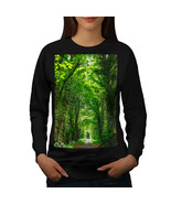 Green Forest Road Jumper Venice Boat Women Sweatshirt - $18.99