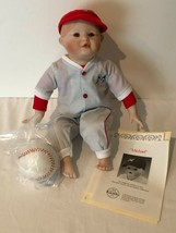 Ashton Drake Michael Porcelain Doll Yolanda Picture Perfect Babies Baseb... - $29.99