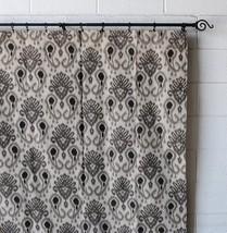 Urbanest Woodblock Linen Designer Drapery Curtain Panels(Two Panels), Gr... - $39.59