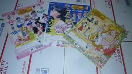 Bandai Japan Sailor moon Display LOT 3 cardboard thick card Sailormoon W... - $13.50