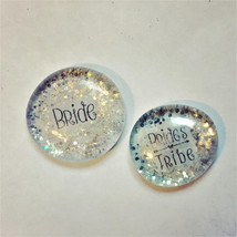 Bride Tribe Sparkly Pins, Bachelorette Party, Hen Night Badges, Bride Bu... - $10.00