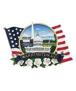 Flag Shaped American Flag, National Mall, Cherry Blossom Refrigerator Ma... - $6.99