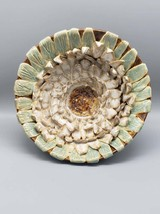 Flower bowl with petals stoneware - $45.00