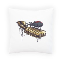 Microphone Spider Music Funny Vintage Art City Pillow Cushion Cover yy39p - ₨867.74 INR+
