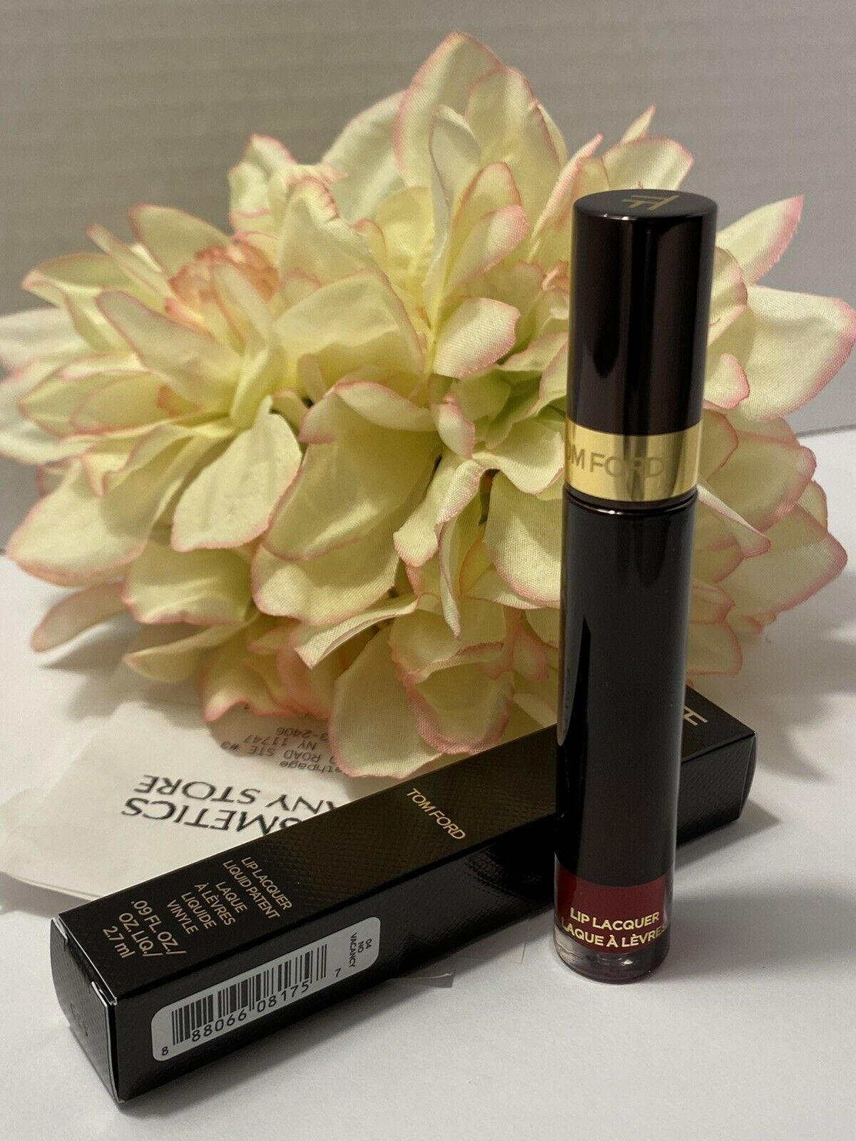 Primary image for TOM FORD Liquid Patent Lip Lacquer - long wearing - 04 No Vacancy - New In Box