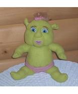 """Shrek DreamWorks Plush 10"""" Baby Girl Green Ogre with Blue Eyes in Pink D... - $7.39"""