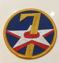 Wwii Pattern Us Army Air Force Usaaf 7TH Air Force Patch Reproduction Glue Back - $1.99