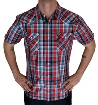 Levi's Men's Classic Cotton Casual Button Up Shirt Multi Red 3LYSW2462 image 1
