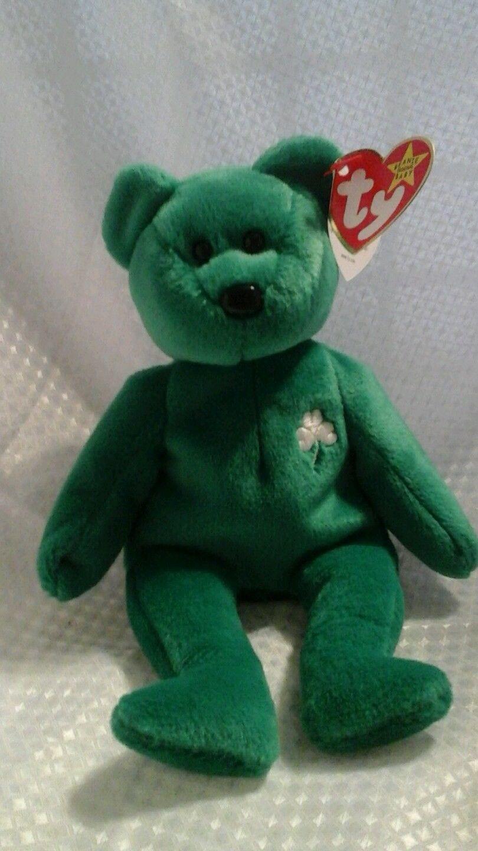 18cd6c6c51d S l1600. S l1600. Previous. TY Beanie Baby Erin St. Patrick s Day Bear  Shamrock Green Bear 9B · TY Beanie ...