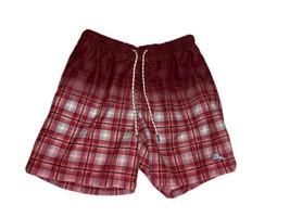 Tommy Bahamas Mens Red Maroon Relax Swim Trunks Size Medium Beach Shorts - $13.85