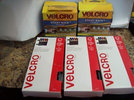 Five Packages of Velcro Sticky Back Tape, Hook and Loop Tape W3 - $14.84