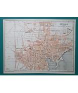 ITALY Sicily Catania City Town Plan - 1911 MAP - $26.96