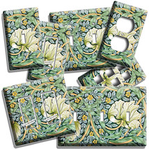FLOWER AND LEAF LIGHT SWITCH OUTLET WALL PLATE ROOM 19 CENTURY NOUVEAU A... - $10.99+