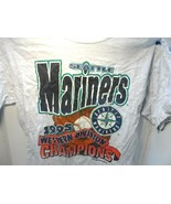 Seattle Mariners 1995 Western Division Champions T-Shirt Lg. stains see ... - $0.99
