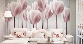 3D Lila - Pink Tulip Blume Fototapeten Wandbild Fototapete BildTapete Familie DE - $52.21+
