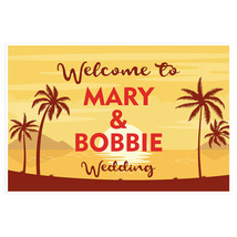 Palm Trees Sunset Welcome Sign for Wedding - $18.32+