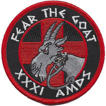 USAF 31st Aerospace Medicine Squadron Patch - FEAR THE GOAT - XXXI AMDS - $11.87