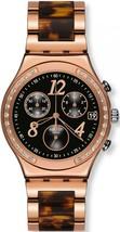 Swatch Womens YCG404GC Irony Dreamnight 14 Chrono Crystal  Stainless Steel Watch - $120.87