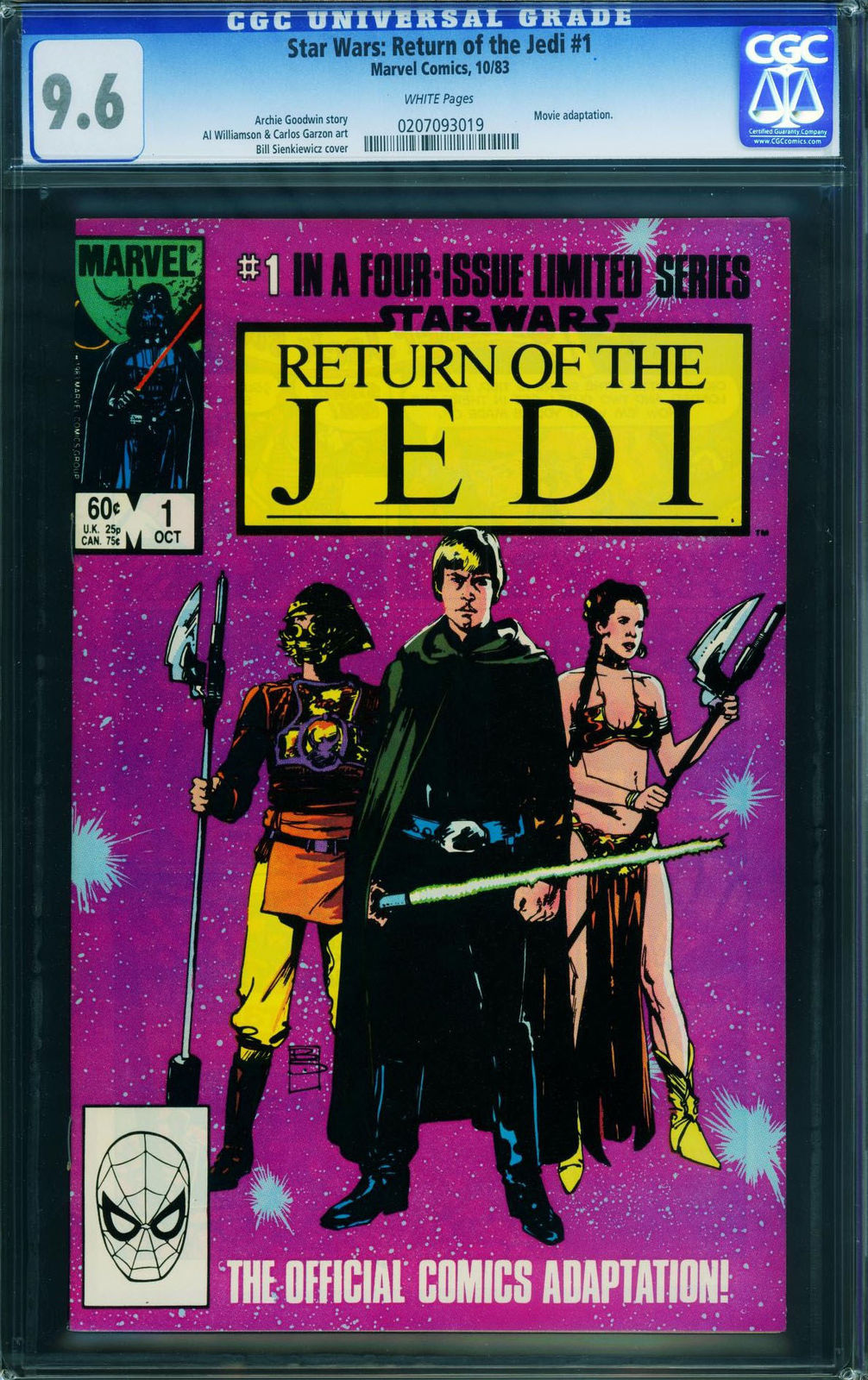 Primary image for Star Wars The Return of the Jedi #1-1983-cgc 9.6 - 0207093019
