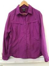 Eddie Bauer Lightweight Vented Back Long sleeved Button Down Shirt Magen... - $22.95