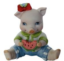 Pig Figurine Bronson vtg hog piglet anthropomorphic decor gift BC Waterm... - $23.17