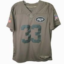 Jets #33 Boys Jersey Size M - New York Jets Nike Salute to Service Adams... - $41.66