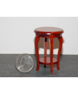 1 Pcs Round End Side Table Dollhouse Miniature Wood 1:12 one inch scale ... - $36.00