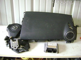 04 05 06 07 08 09 Mazda 3 Air Bag Set Wheel Dash Module Belt Black OEM BP4M57K30 - $273.48