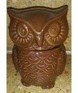 "Brown Owl Sugar Bowl Jar Small 5"" Figurine Stash Container - $19.79"
