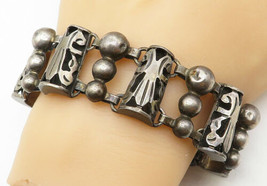 TAXCO MEXICO 925 Silver - Vintage Ball Bead Cut Out Design Chain Bracele... - $141.29