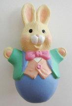 Hallmark Merry Miniatures 1995 Stylish Easter Bunny - $6.25