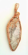 Rutilated Quartz Copper Wire Wrap Pendant 49 - $27.95