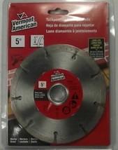 "Vermont American 27455 5"" x 1/4"" Tuckpointing Diamond Saw Blade - $14.85"