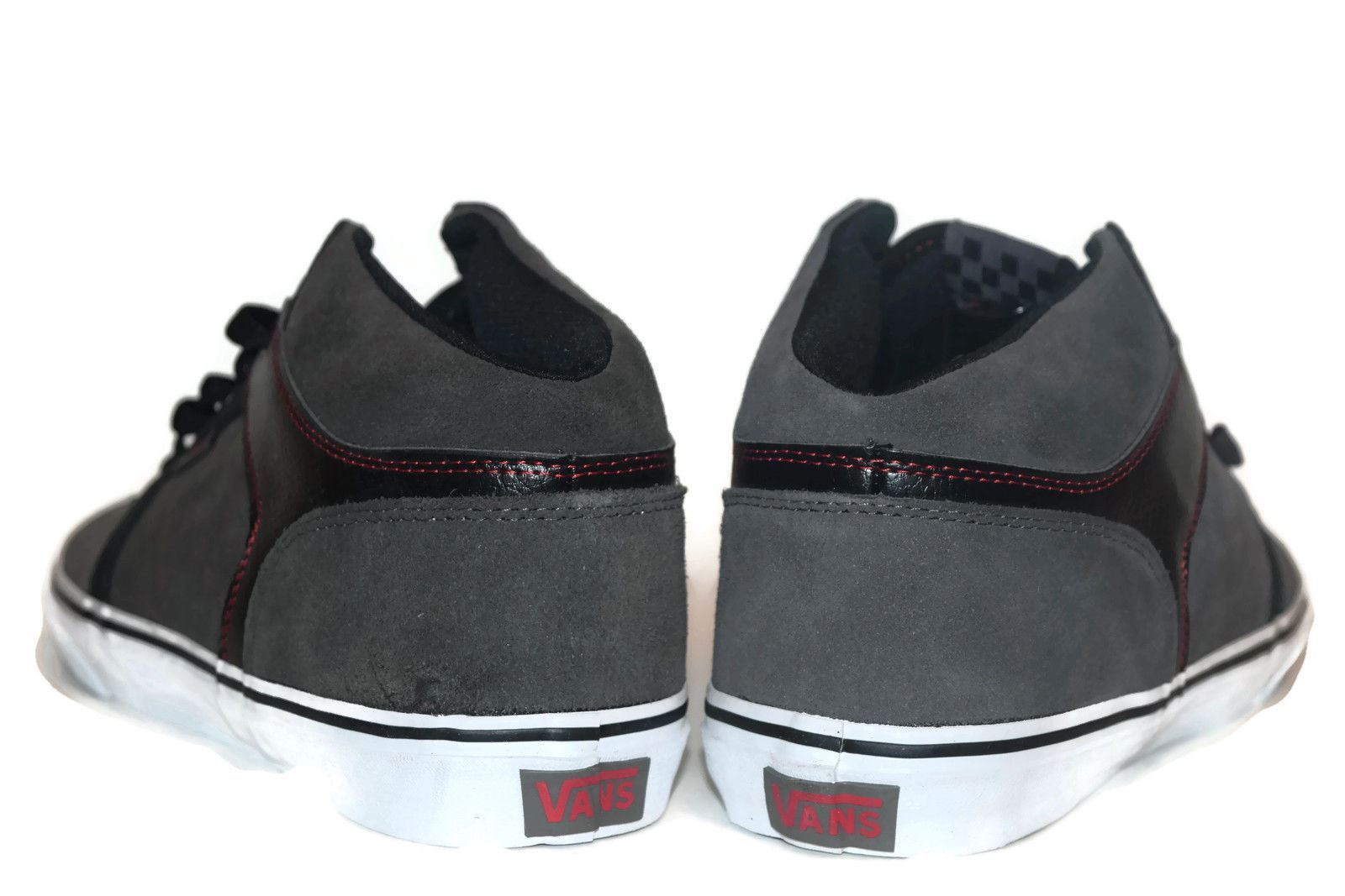 VANS Ellis Mid (Red Stitch) Charcoal/Black Casual Skate MEN'S 6.5 WOMEN'S 8