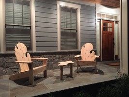 Set of 2 Michigan Cedar Adirondack Chairs and UP Table - $299.00