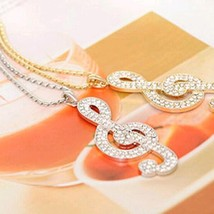 Chic rhinestone suspension sweater long chain necklace gold and silver color - $9.25