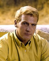 Lee Majors in The Big Valley handsome portrait in yellow shirt 1966 16x2... - $69.99
