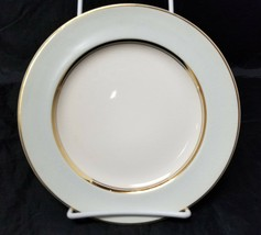 "French Saxon China Co Side Plates Set of 3 7.25"" White & Lgt Blue Pottery Salad image 2"