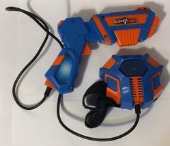 Spy Net Laser Gun With Target 2008 Jakks Pacific Blue And Orange Tested ... - $17.81