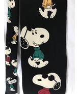 SNOOPY Joe Cool  VTG  Peanuts Sweater Men's Tie Necktie - 100% Silk Black - $12.99